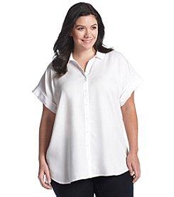 Chelsea & Theodore® Plus Size Button Down Tunic