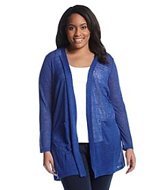 Chelsea & Theodore® Plus Size Solid Open Cardigan