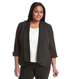 Kasper® Plus Size Solid Open Jacket