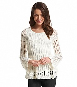 Chelsea & Theodore® Crochet Scoop Neck Top