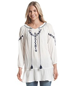 Chelsea & Theodore Embroidered Peasant Top