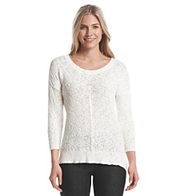 Nine West Jeans Crew Neck Drop Sweater