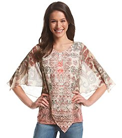 Oneworld® V-Neck Poncho Top