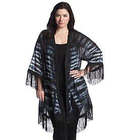 Ruff Hewn GREY Plus Size Fringe Kimono Tunic