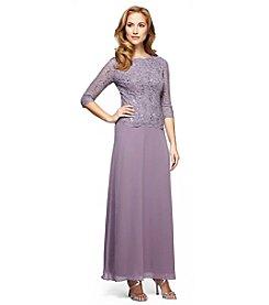 Alex Evenings® Lace Sequin Long Dress