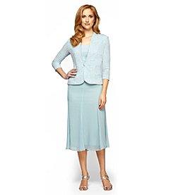 Alex Evenings® Jacquard Tea-Length Jacket Dress