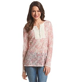 Ruff Hewn Floral Print Henley