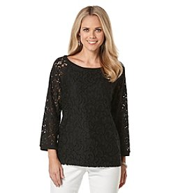 Rafaella® Crochet Top With Lace