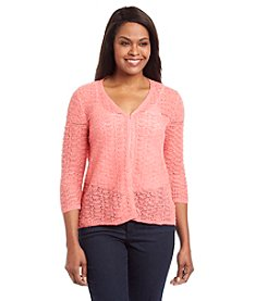Laura Ashley® Popcorn Stitch Cardigan