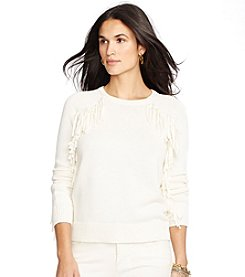Lauren Jeans Co.® Fringed Cotton Sweater