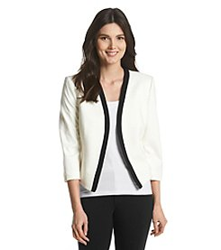 Nine West® Open Jacket With Piping