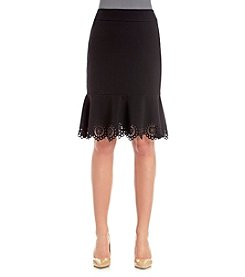 Nine West® Laser Cut Skirt