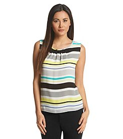 Nine West® Dobby Stripe Blouse