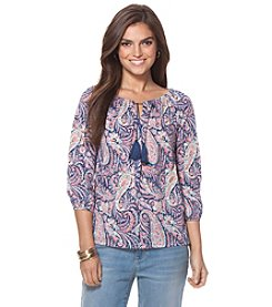 Chaps® Paisley Peasant Top