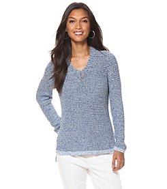 Chaps® Cotton V-Neck Sweater