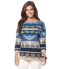 Chaps® Southwestern Cotton Sweater