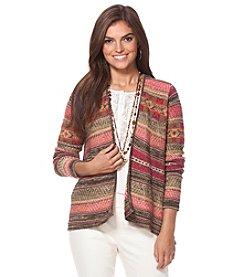 Chaps® Southwestern Cotton-Linen Cardigan