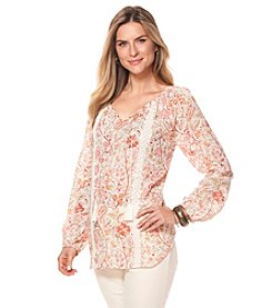 Chaps® Floral Peasant Top