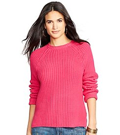 Lauren Ralph Lauren® Cotton Raglan Sweater