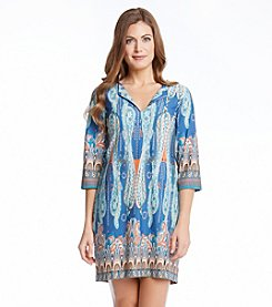 Karen Kane® Paisley Print Shift Dress