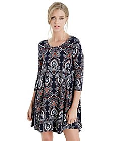 Karen Kane® Printed Trapeze Dress