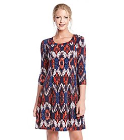 Karen Kane® Pacific Ikat A-Line Dress