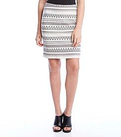 Karen Kane® Stripe Jacquard Skirt