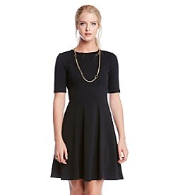 Karen Kane® Solid Flared Dress