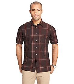 Van Heusen® Men's Short Sleeve Textured Woven Button Down Shirt