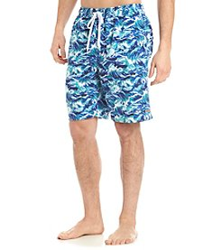 Le Tigre Men's Wave Print Swim Trunks
