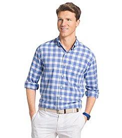 Izod® Men's Long Sleeve Newport Oxford Plaid Shirt