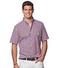 Chaps® Men's Short Sleeve Easy-Care Woven Button Down Shirt