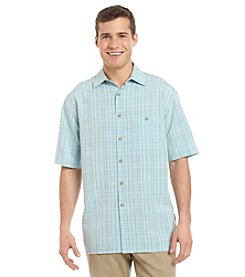 Paradise Collection® Men's Short Sleeve Printed Button Down Shirt