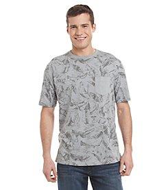 Paradise Collection® Men's Allover Tropical Print Short Sleeve Shirt