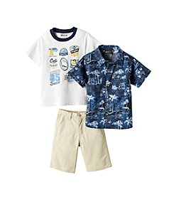 Nannette® Boys' 2T-7 3-Piece Hawaiian Shirt, Tee, And Shorts Set