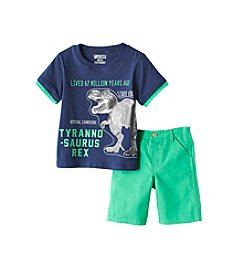 Nannette® Boys' 2T-7 2-Piece T-Rex Printed Tee And Shorts Set