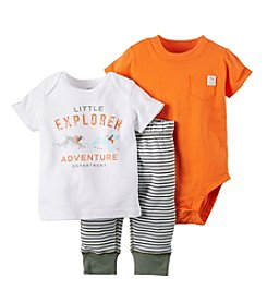 Carter's® Baby Boys 3-Piece Little Explorer Tee, Bodysuit And Pants Set