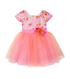 Rare Editions® Baby Girls' Floral Tulle Dress