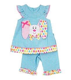 Rare Editions® Baby Girls' Bunny Top And Pants Set