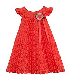 Rare Editions® Baby Girls' Pleated Lace Dress