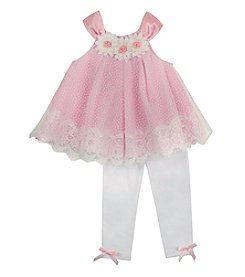 Rare Editions® Baby Girls' Lace Top With Leggings