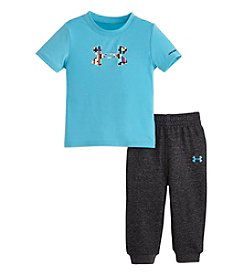 Under Armour® Baby Boys' 12-24M Pixel Logo Tee And Jogger Pants Set