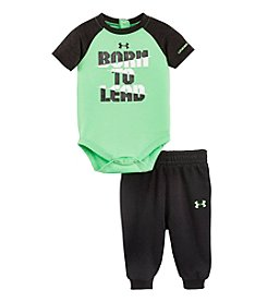 Under Armour® Baby Boys' Newborn-12M Born To Lead Bodysuit And Jogger Pants Set