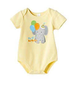 Cuddle Bear® Baby 1st Birthday Elephant Bodysuit