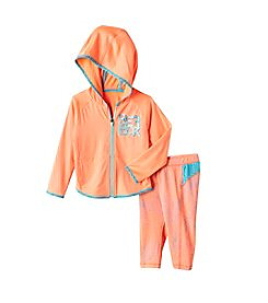 Reebok® Baby Girls' Active Hoodie And Printed Leggings Set