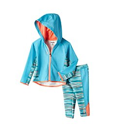 Reebok® Baby Girls' Active Hoodie And Leggings Set