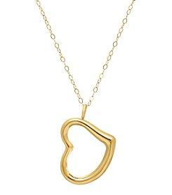 Fine Jewelry 14k Gold Heart Pendant Necklace