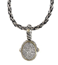 Effy® Balissima Collection 0.17 ct. t.w. Diamond Pendant Necklace in Sterling Silver