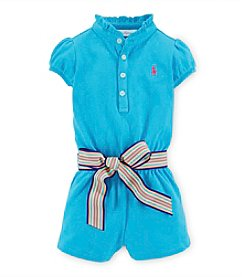 Ralph Lauren Childrenswear Baby Girls' Belted Romper
