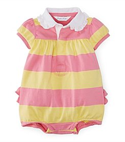 Ralph Lauren Childrenswear Baby Girls' Striped Bubble Shortalls